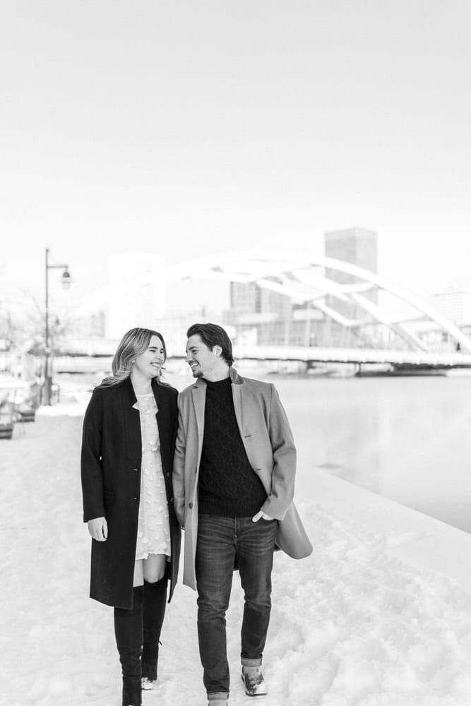 Downtown Rochester New York Engagement Photos